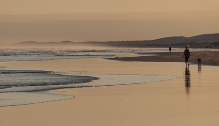25531011 - sunset on stockton beach  port stephens  anna bay  australia